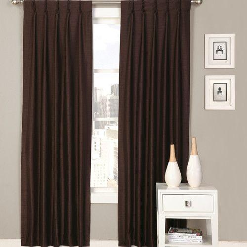 Palace Solid Semi Sheer Pinch Pleat Curtain Panels Panel