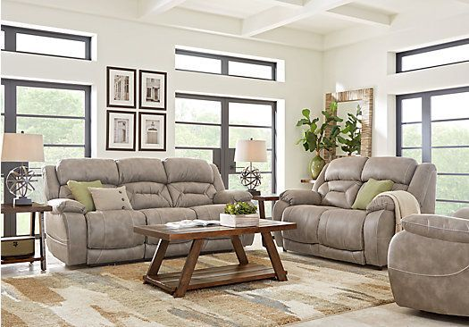 Stupendous Picture Of Griffin Valley Taupe 2 Pc Living Room With Power Onthecornerstone Fun Painted Chair Ideas Images Onthecornerstoneorg