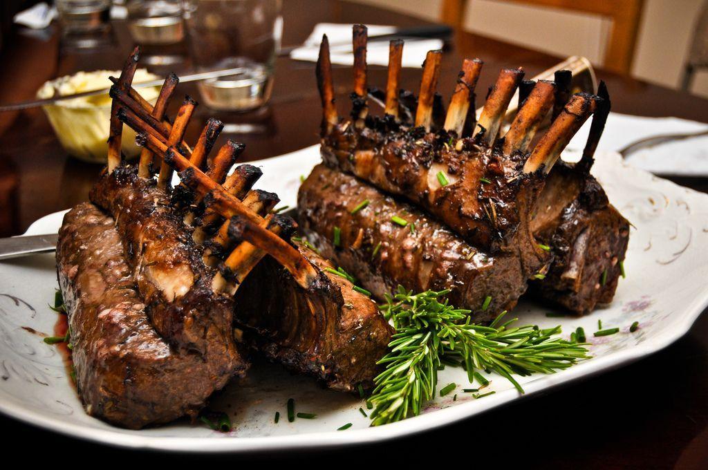 Traditional Roasted Rack Of Lamb Recipe Lamb Recipes Roast Rack Of Lamb Food