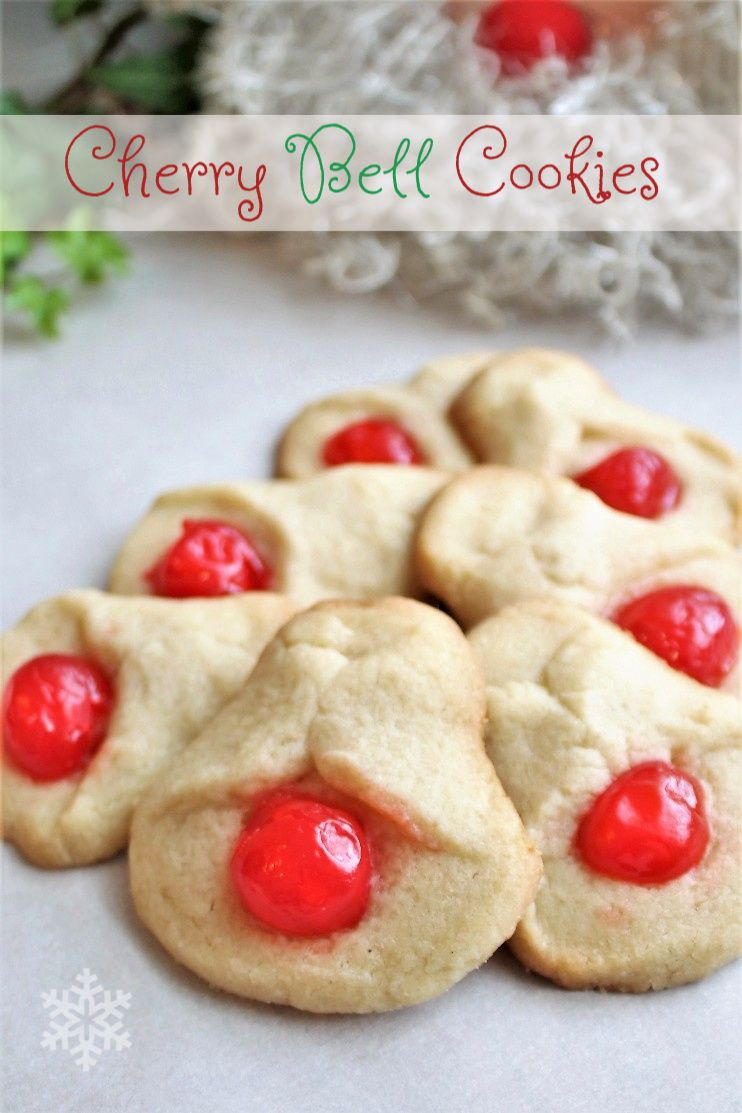 Cherry Bell Cookies Recipe Christmas food treats