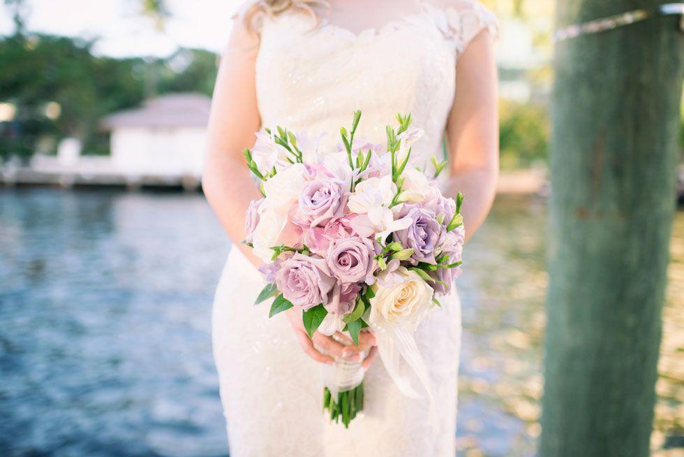 Lavendar rose bouquet // Rubber Boots Photography, South Florida Wedding Photographer