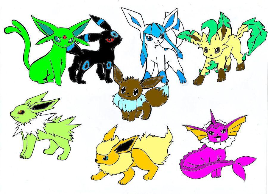 All Eevee Evolutions Shiny By SakuraAlexia On DeviantART