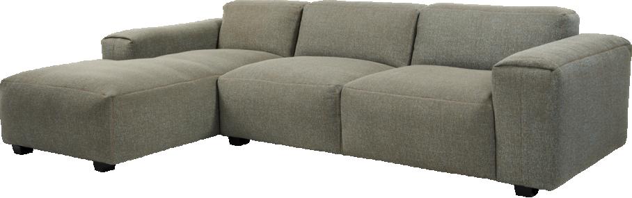 Posada Canapé 3 places avec méri nne gauche en tissu gris chiné