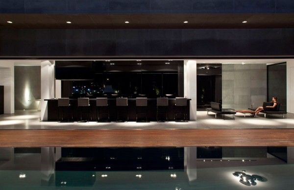 Contemporary Vacation House In Israel: Bar Stool Of Modern Concrete Beach Home In Israel ~ Manningmarable
