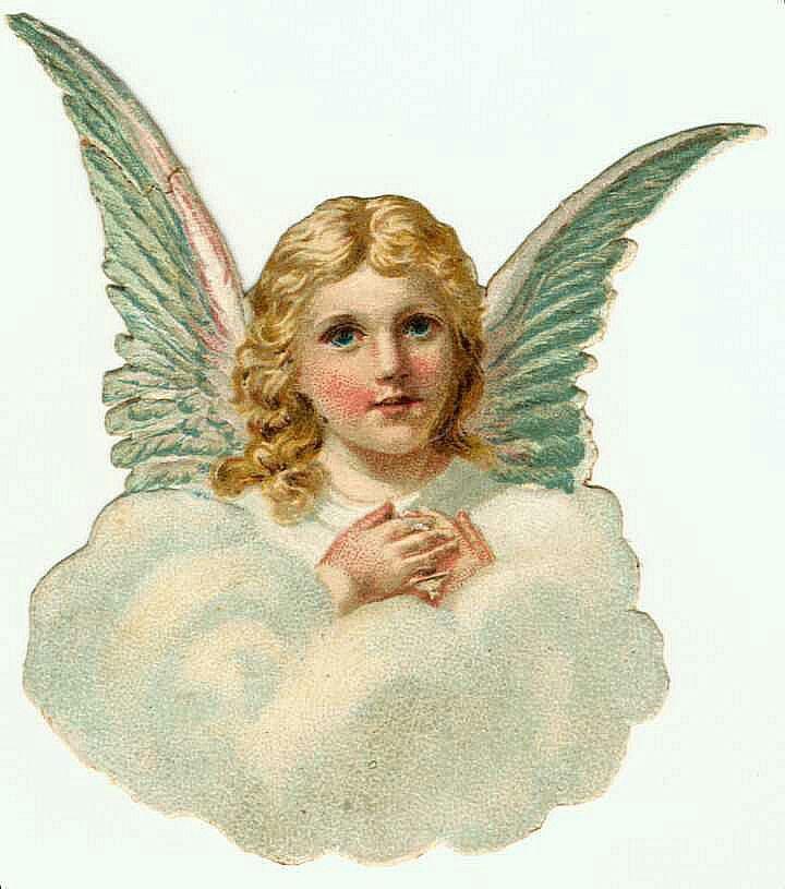 Рисунок винтажные ангелы