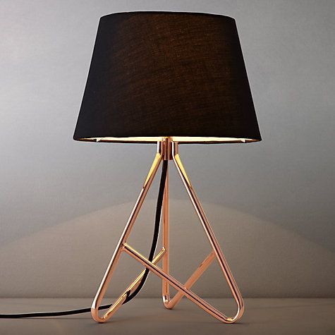 John Lewis Albus Twisted Table Lamp Black Copper 63