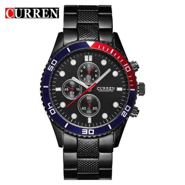 658899371 Hot Sports Brand Curren Watches Men Luxury Brand Analog Steel Case Men's  Quartz Sports Watches Man Army Military Wrist Watch