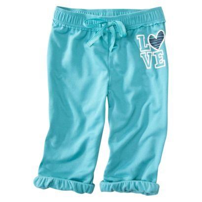 Xhilaration® Girls' Pajama Pant Capri - Baltic Teal