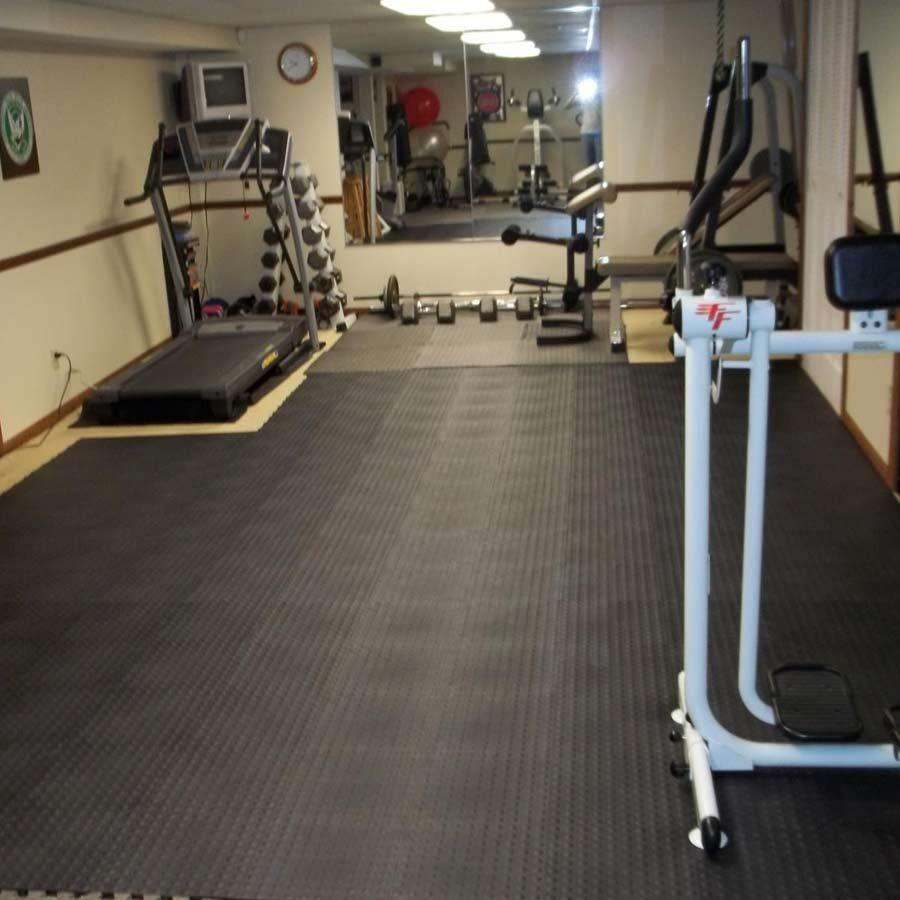 StayLock Tile Bump Top Black Home gym flooring, Wet