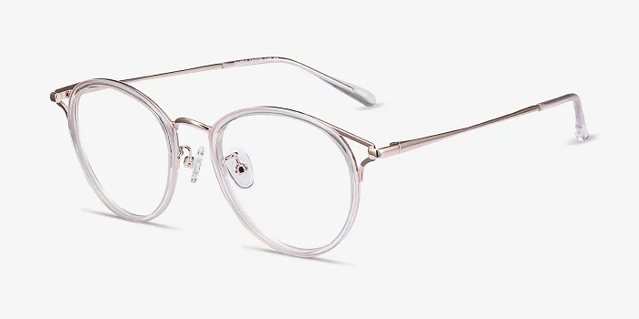 Dazzle Lucent Pink Frames With Unique Lines Eyebuydirect Wire Frame Glasses Pink Eyeglasses Wire Rimmed Glasses