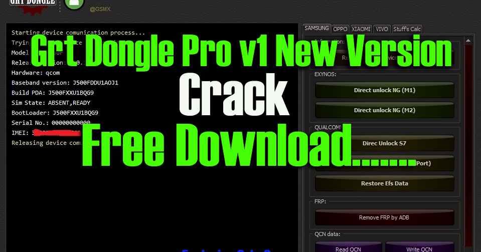 DownloadGrt Dongle Pro v1 New Version Crack [ Only 64 Bit