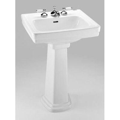 Toto Promenade 24 Pedestal Bathroom Sink Reviews Wayfair 239