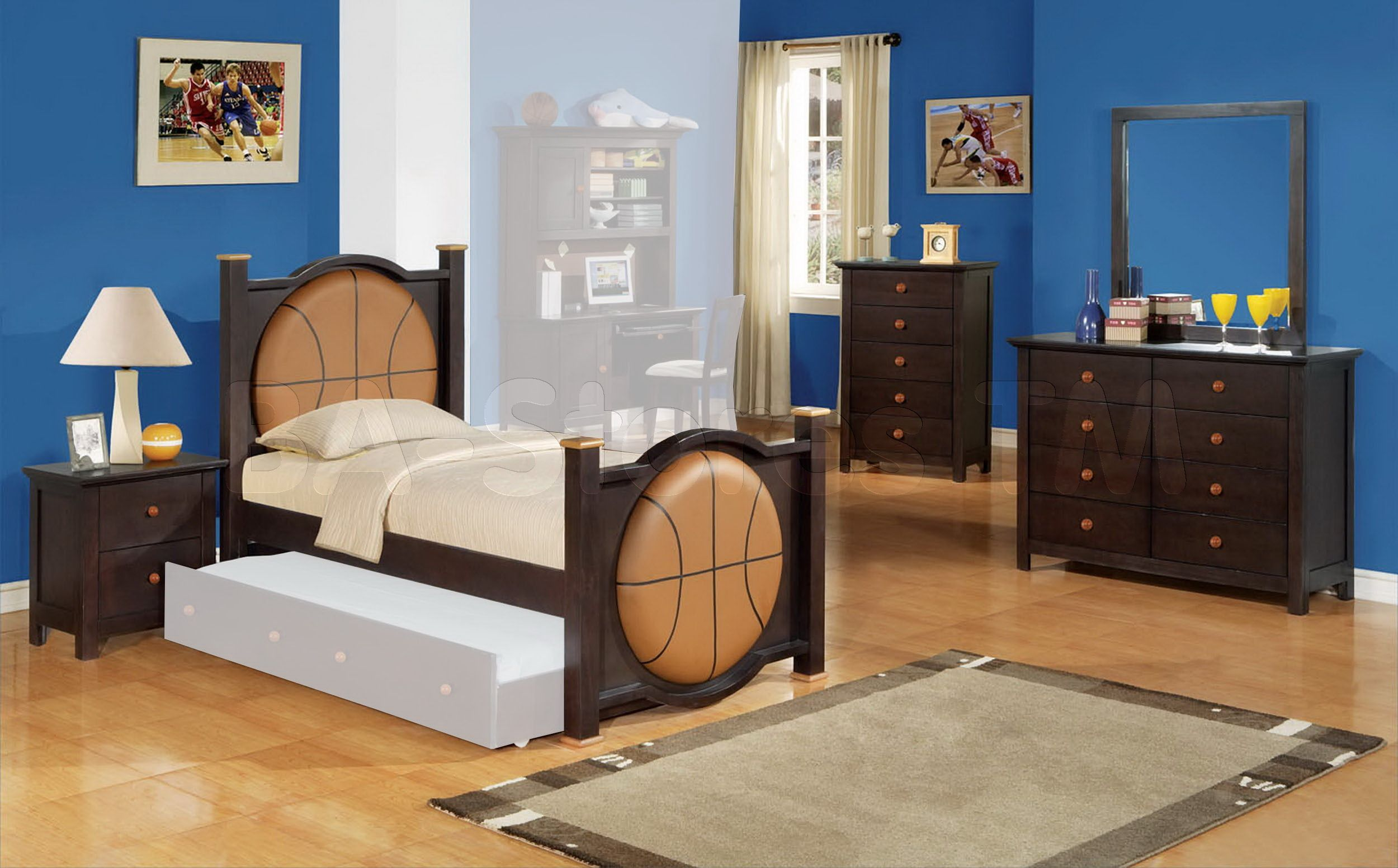 20 Awesome Modern Bedroom Furniture Designs: Amazing Basketball Theme Cool Rooms For Boys By A Unique