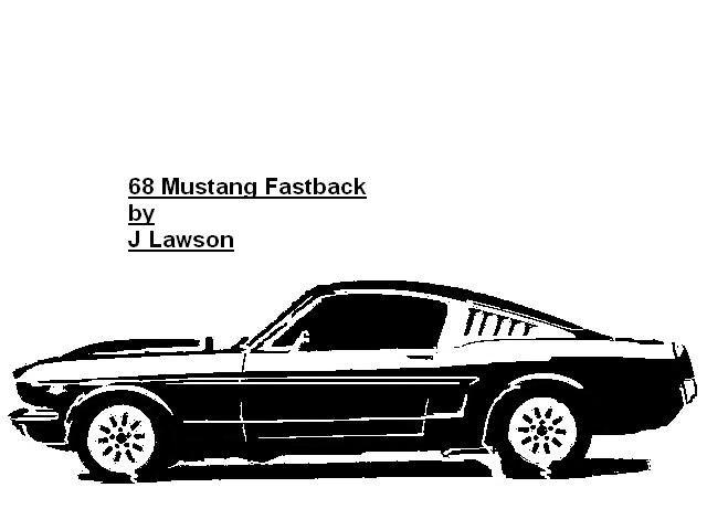 68 Mustang Fastback Pattern Transportation User
