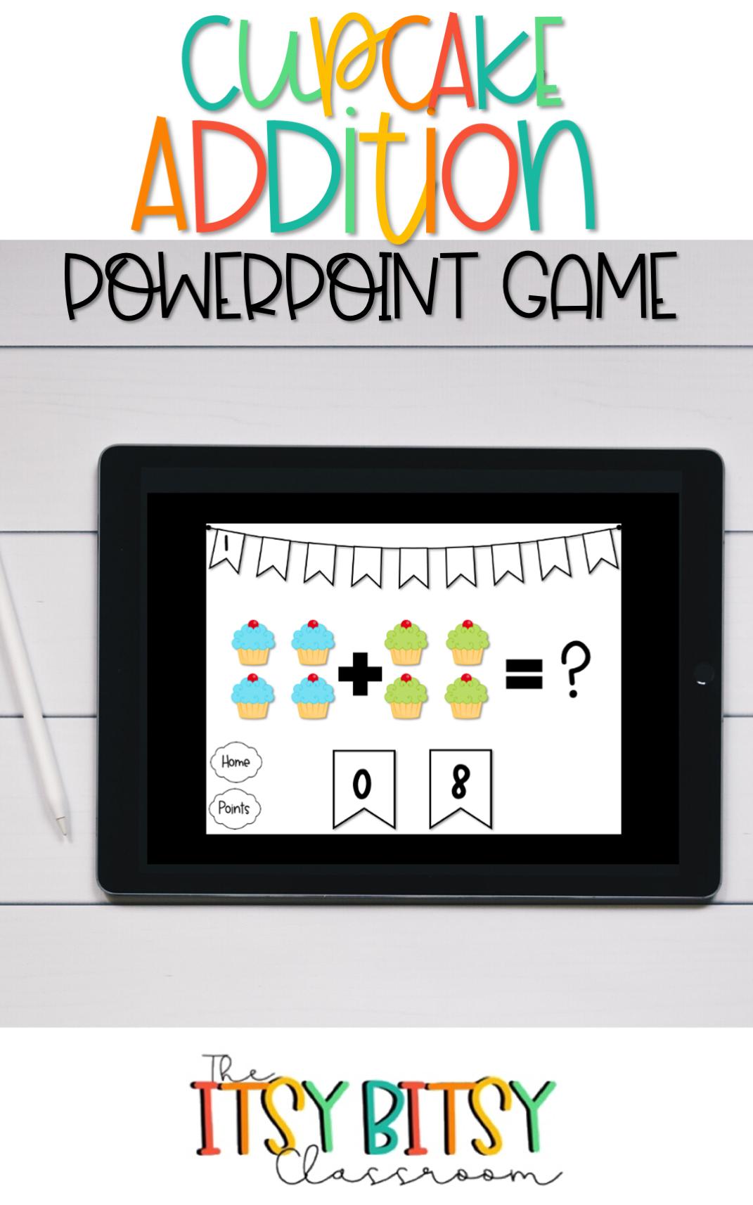 Distance Learning Cupcake Addition Powerpoint Game Kindergarten Basic Math Basic Math Math Math Strategies