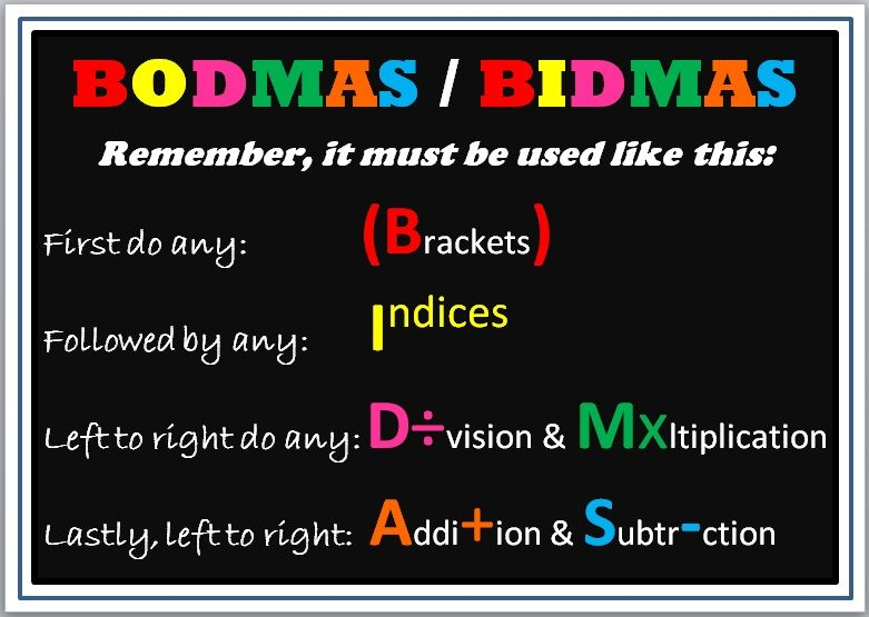 The Maths Magpie: Posters for BODMAS / BIDMAS Misconception | Math ...