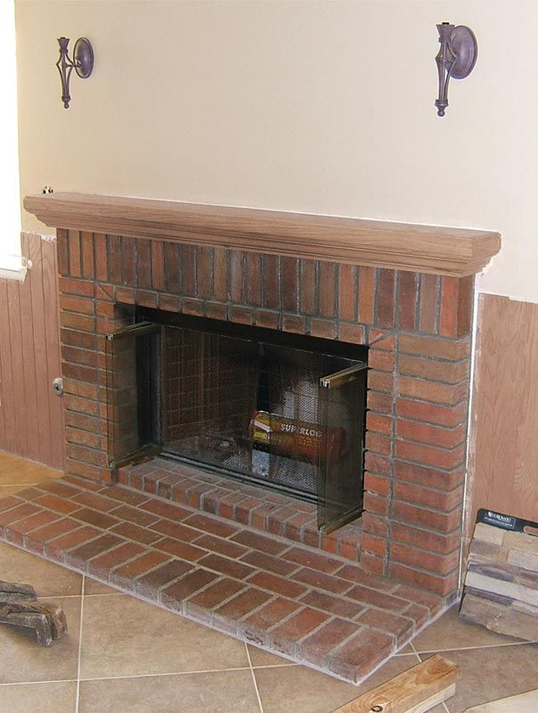 faux stone fireplace stone veneer ... | Fireplace update ideas | Pinterest | Brick fireplace remodel