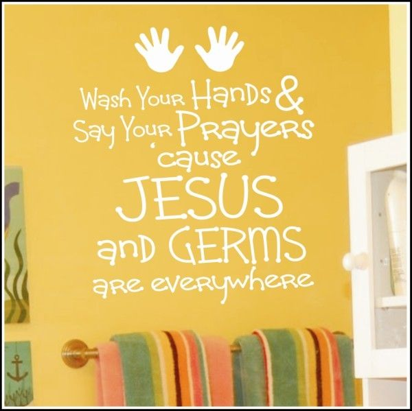 Amazing Wash Your Hands Wall Words For Bathrooms...so Cute I Would Put This