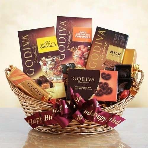 Birthday Godiva Chocolate Lovers Gift Basket
