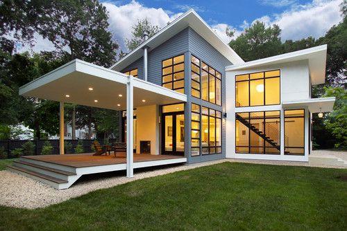 Desain Rumah Sederhana Dan Unik Di Lahan Memanjang Architecture Riverside Residence Riverside House