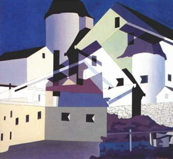 """Charles Sheeler  American   1883 - 1965  """"Composition Around White"""""""