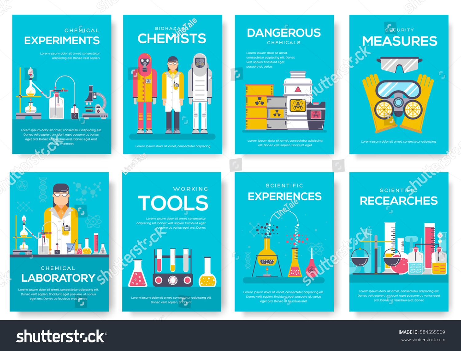 Biohazard Chemists Brochure Cards Set Chemistry Lab Template Of Flyear Magazine Poster Book Cover Banner Science People Brochure Card Set Chemistry Labs