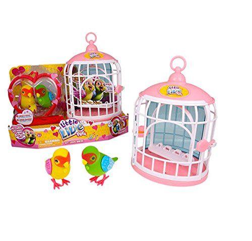 Little Live Pets Bird Cage My Love Birds And Romeo Juliet Little