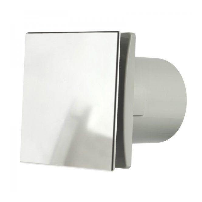 Manrose Mdeco100tc Designer Bathroom Shower Toilet Timer Extractor Fan 100mm Brushed Chrome Finish Bathroom Extractor Fan Bathroom Extractor Bathroom Fan