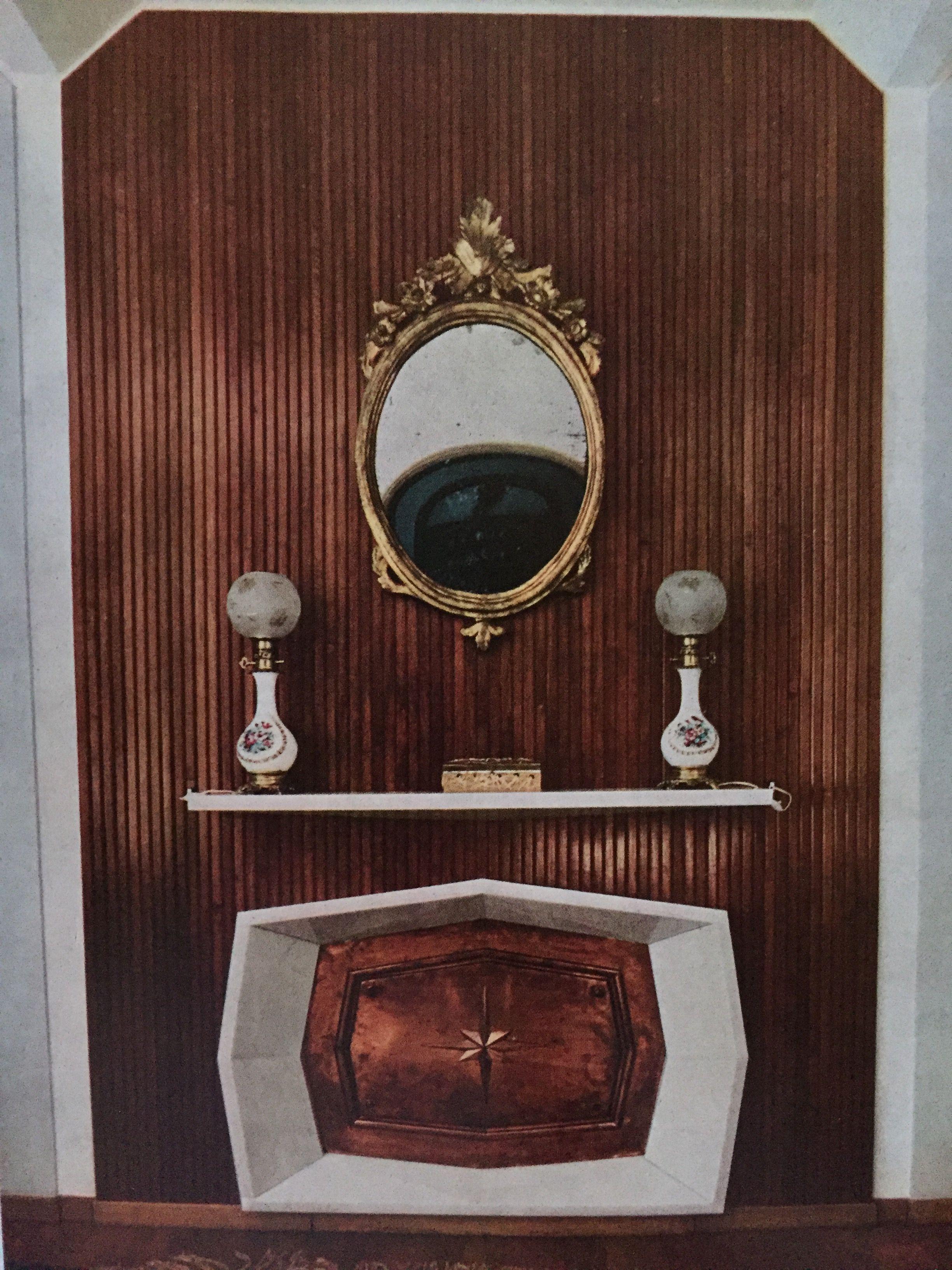Giulio Sterbini Fireplace Roma Circa 1955 Round Mirror Bathroom Bathroom Mirror Inspiring Spaces