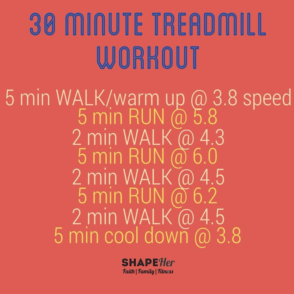 30 Minute Treadmill Workout  www.shapeher.weebly.com