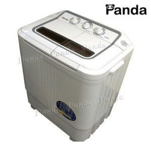 panda compact portable washing machine with spin dryer