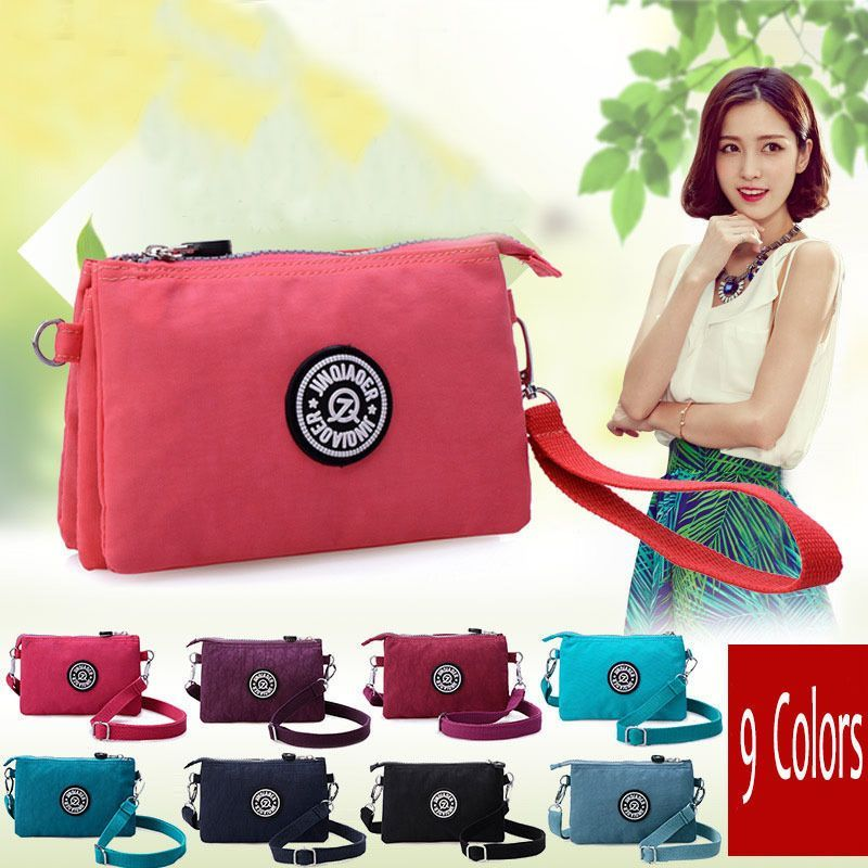 Women'S Korean Singles Shoulder Bag Packet Waterproof Nylon Bag Clutch Handbags