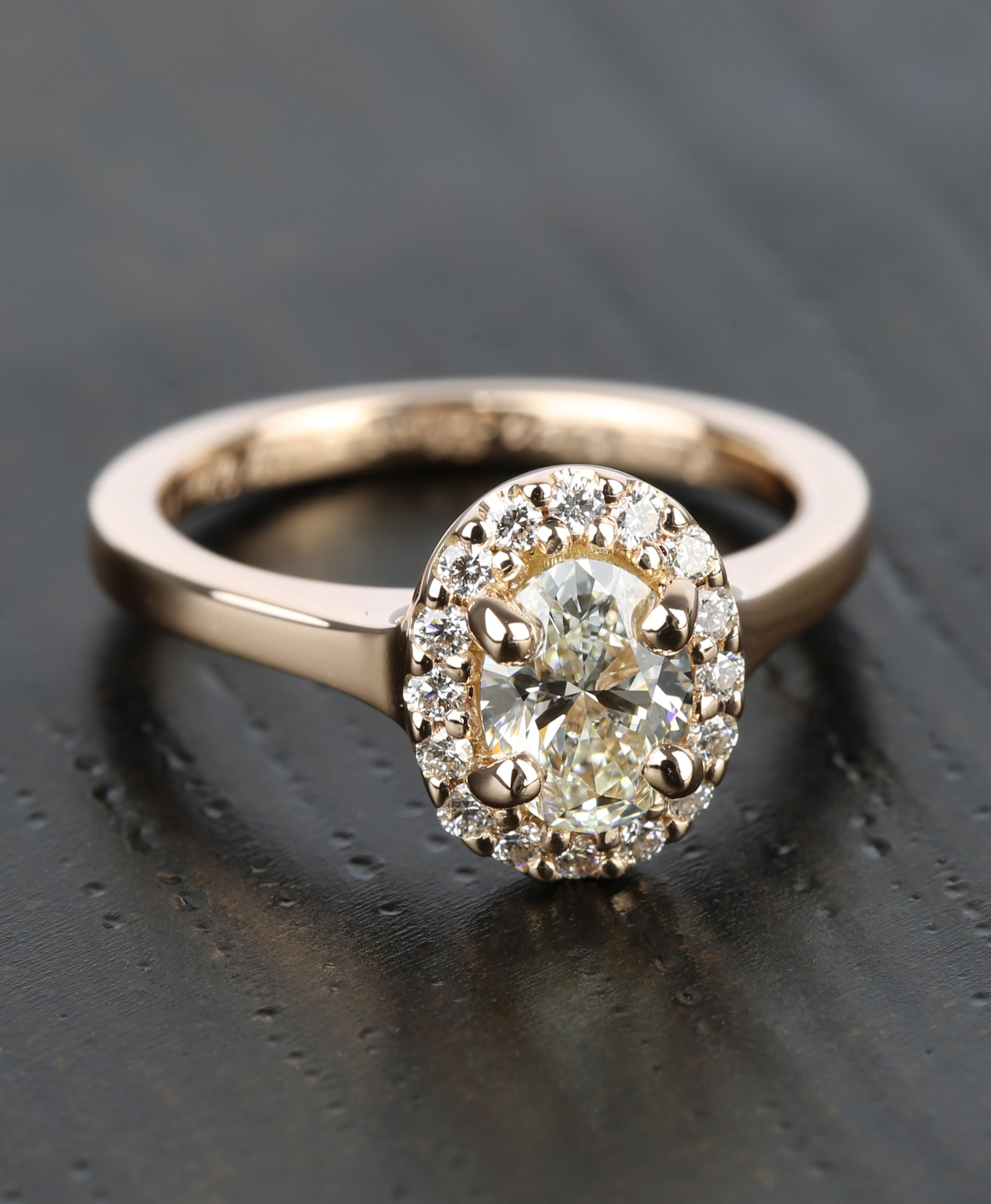 jewellers engagement products dublin halo campbell oval ireland rings ring diamond gold