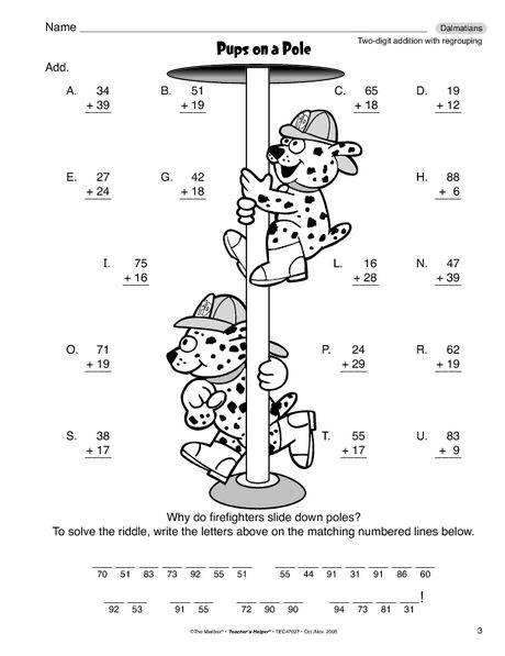 Math Worksheet: 2-digit addition with regrouping | Tanulás ...