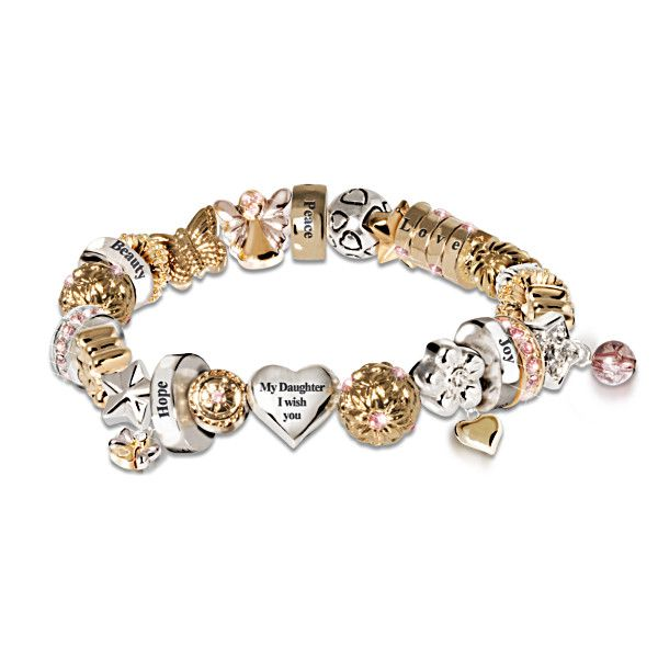 My Daughter I Wish You Heartfelt Wishes Charm Bracelet | Books