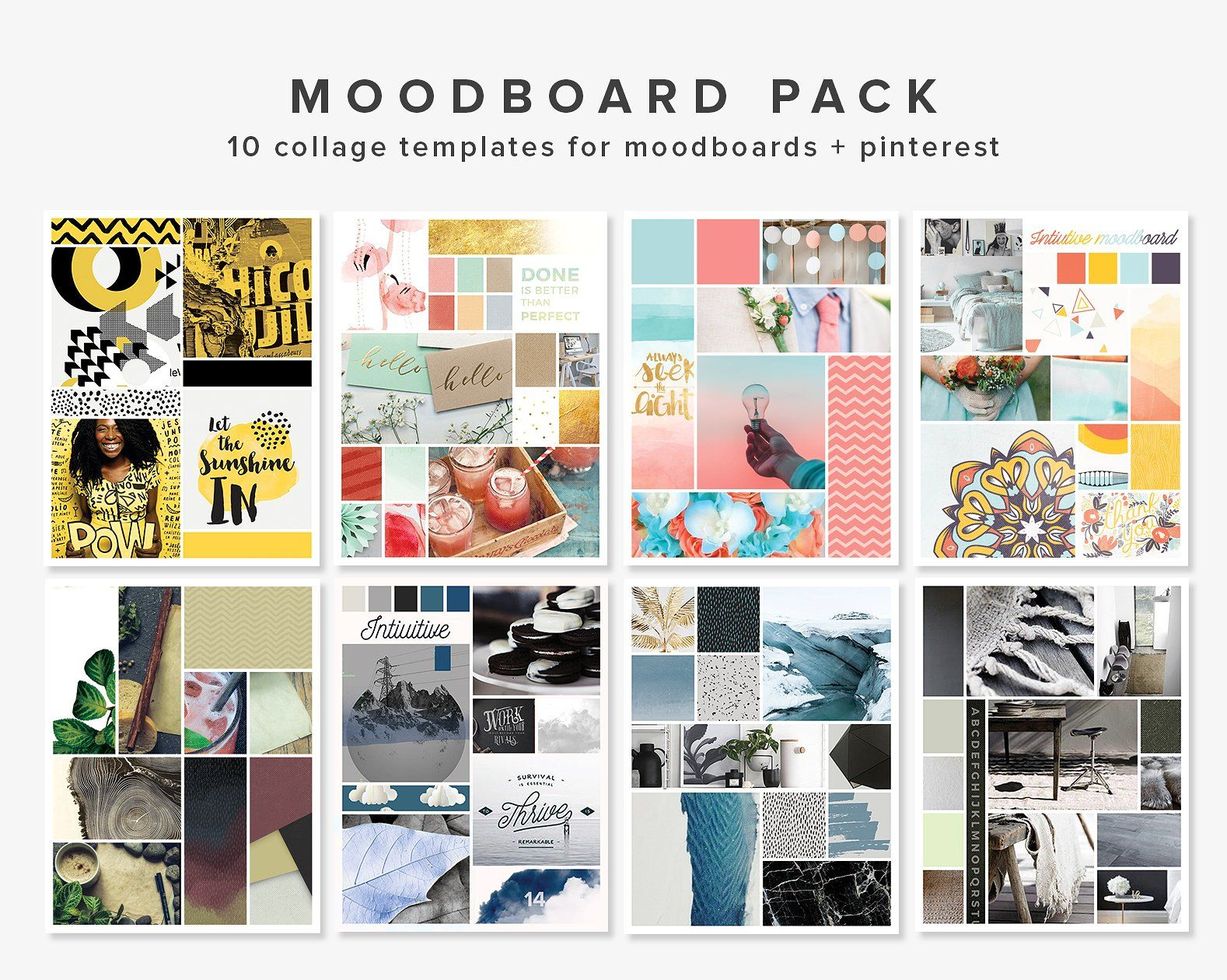 Mooboard 10 Template Pack By Fearless Confetti On Creativemarket