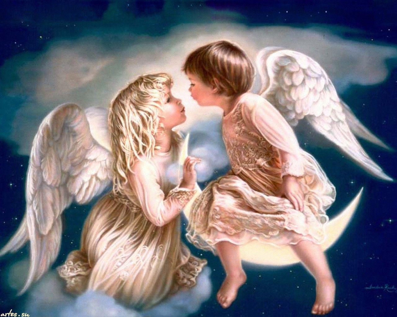 Обои на рабочий стол ангелочки дети