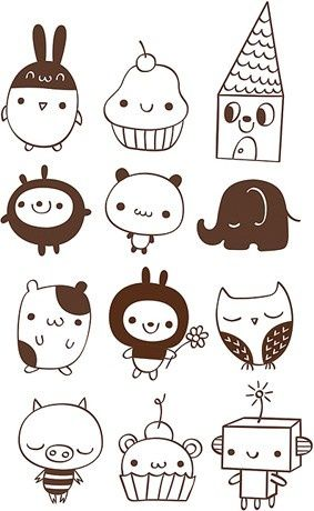 I Love Things With Cute Faces Cute Doodles Doodle Drawings