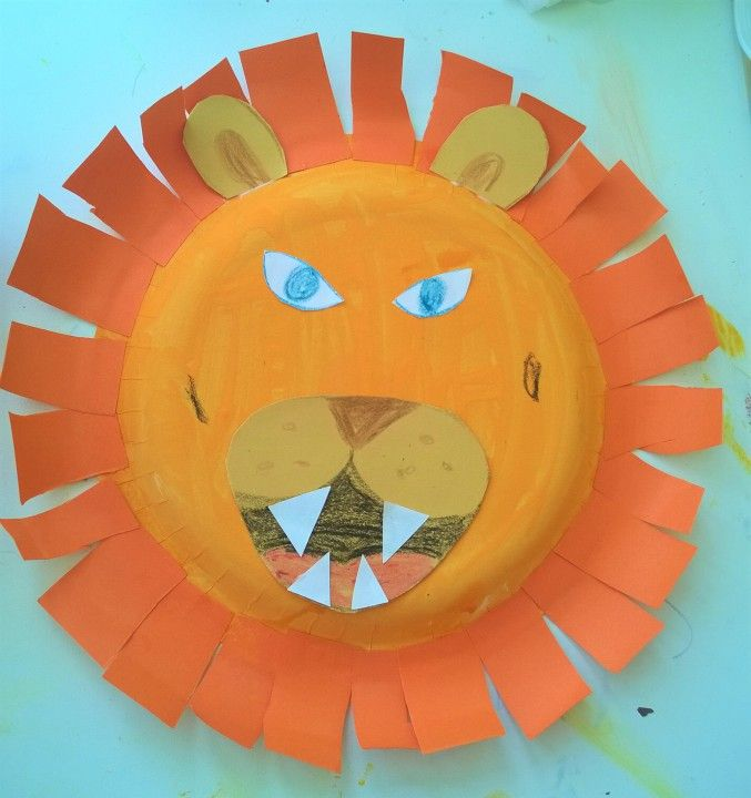 Paper Plate Lion Face - Becoming a Stay at Home Mum ...