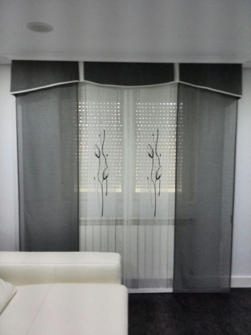 Panel japones con volante cortinas pinterest paneles - Cortinas con volantes ...