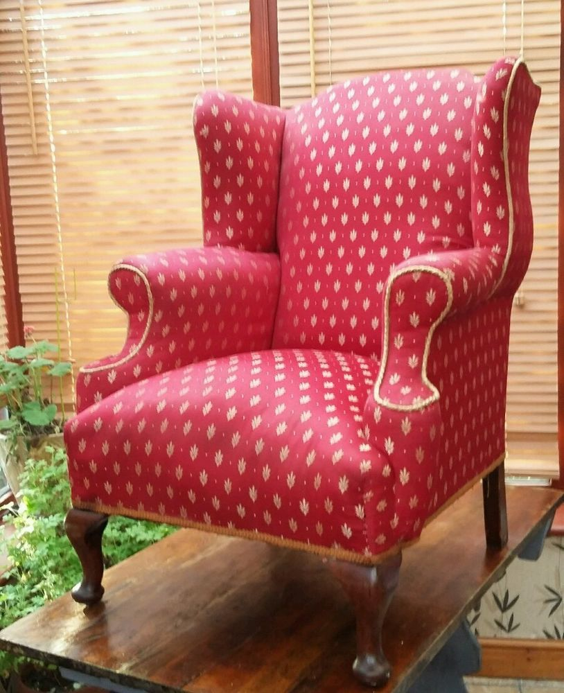 Queen Anne Antique Chairs | EBay. Wingback ...