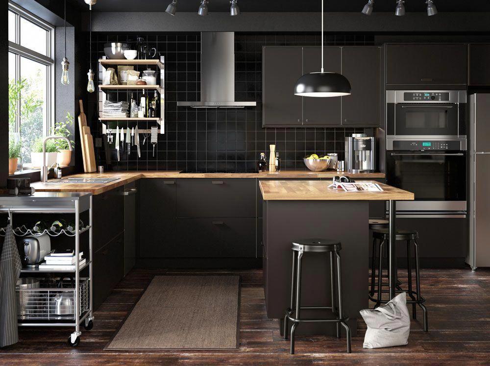 Kitchen Trend 2019 Matte Black Cabinetry Kitchenhacks In 2020 Kuche Schwarz Ikea Kuche Kuche Planen