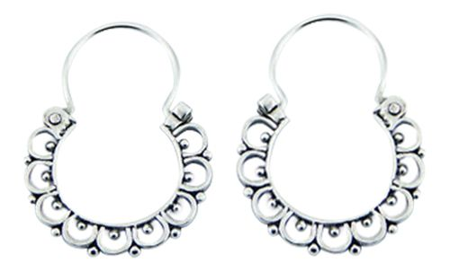 Sterling silver filigree hoops from www.GoulterBennetts.com
