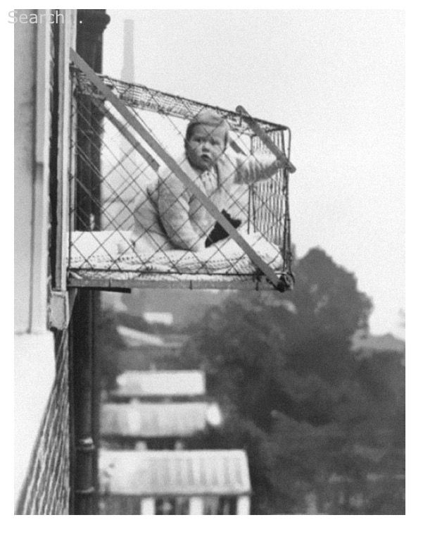 Baby Cages Used To Ensure That Children Get Enough Sunlight And