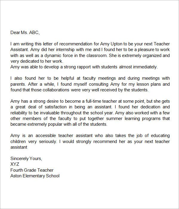 Sample letter of recommendation for teacher 18 documents in word sample letter of recommendation for teacher 18 documents in word spiritdancerdesigns Gallery