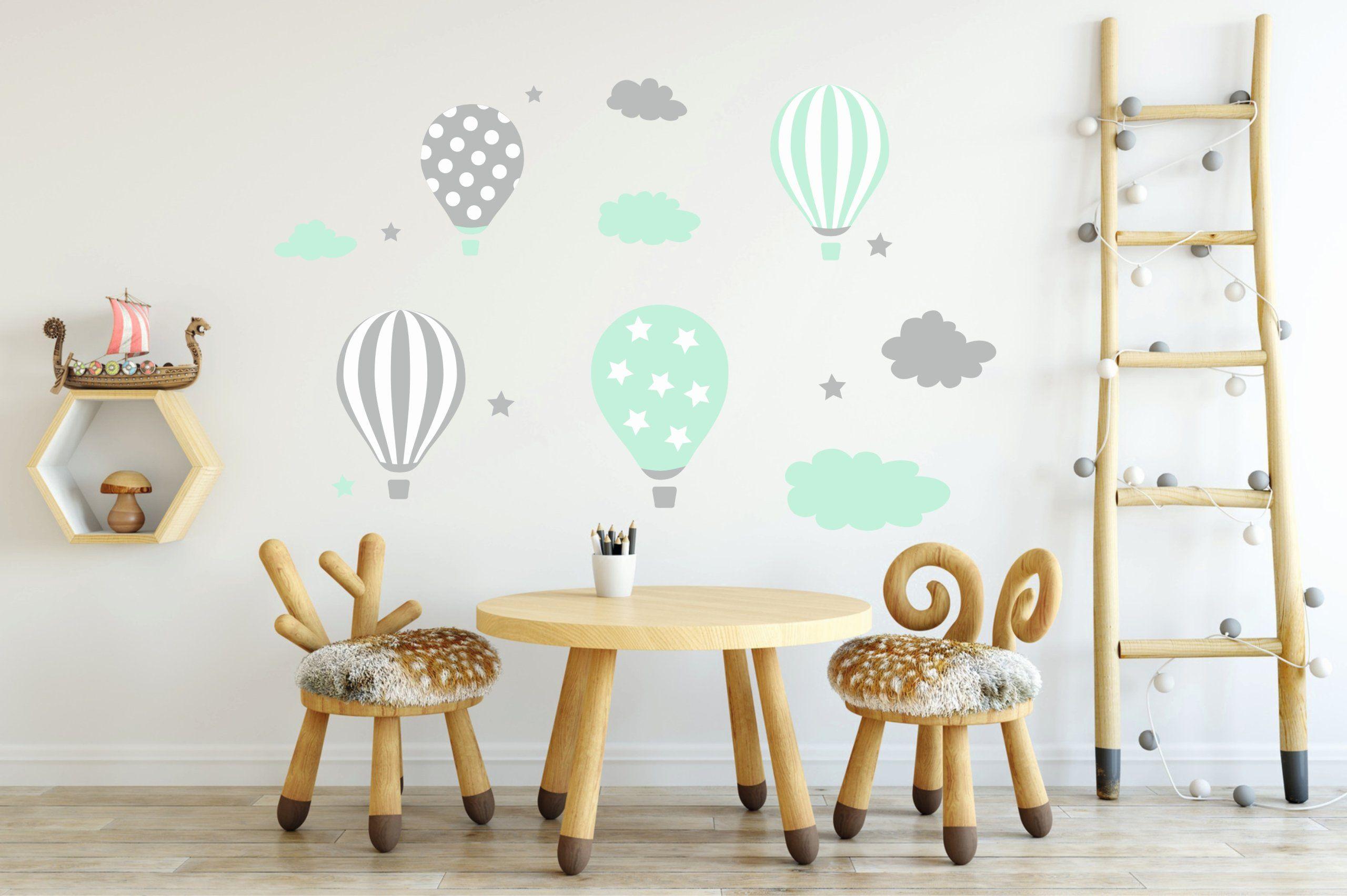 Naklejki Na Sciane Scienne Dla Dzieci Balony Balon Baby Wall Decals Nursery Room Decor Girl Wall Stickers Kids