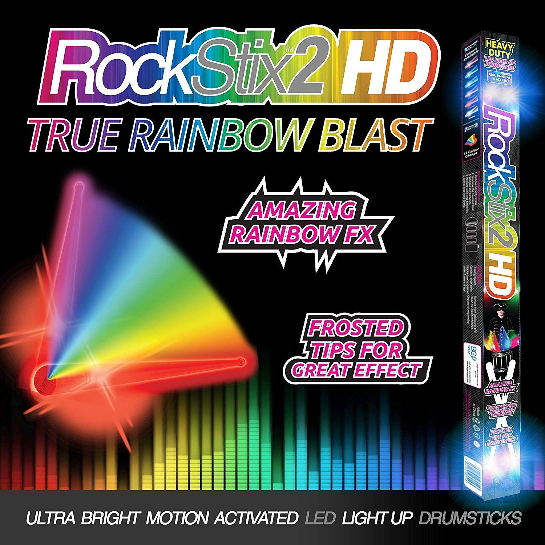 Rockstix Light Up Drumsticks Rainbow Blast Amazing