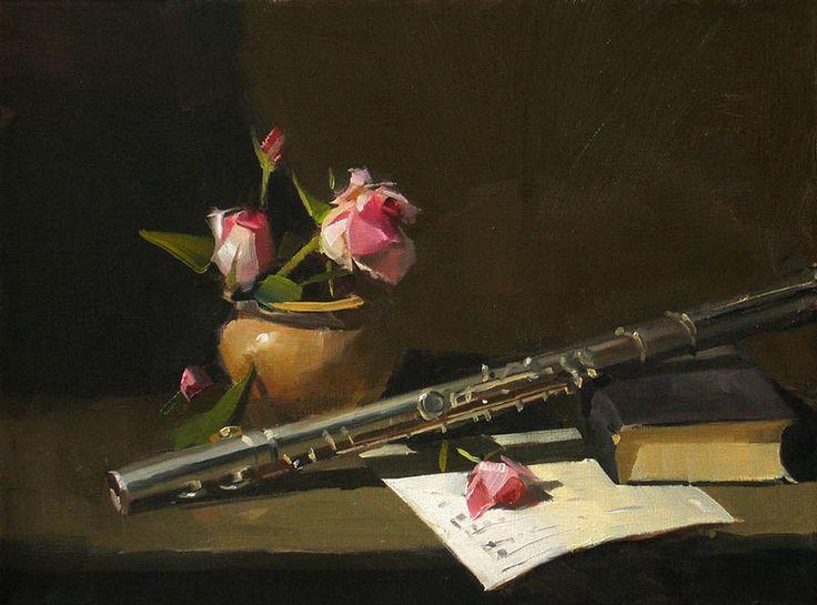 Розы, картинки с флейтой и цветами