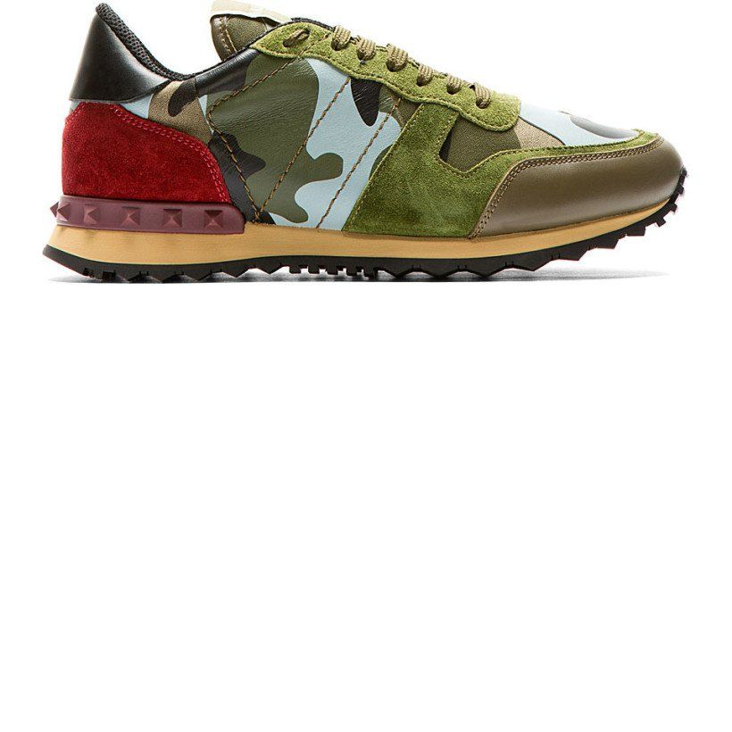 Valentino Green & Red Low Top Sneakers