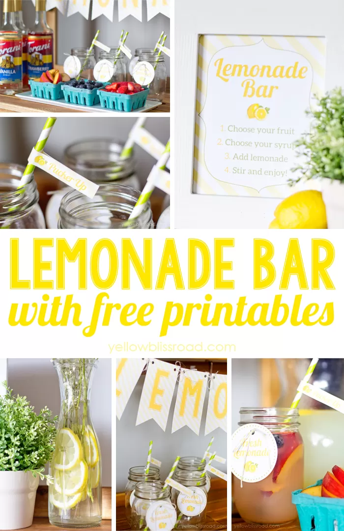 Flavored Lemonade Bar with Free Printables